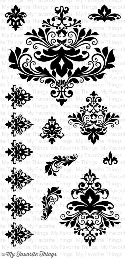 MPD-11 ~ DAMASK DESIGNS ~ CLEAR CLING BACKED STAMPS~ MY FAVORITE THINGS